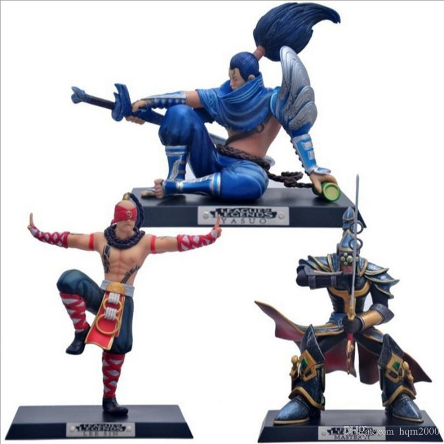 2019 No Box 13 18cm Game LOL Action Figure Toys The Blind Monk Lee Sin Wuju Bladesman Master Yi Unforgiven Yasuo Collection Model DecorGift From Hqm2000, ...