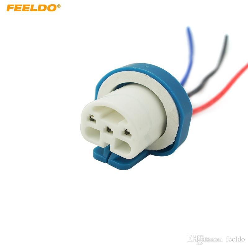 FEELDO 9007 Ceramic Socket Xenon Lamp Wiring Harness For Headlight