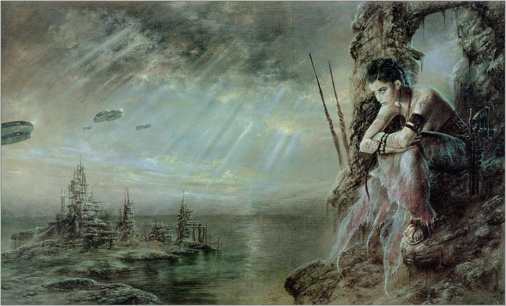 2018 Luis Royo Fantasy Art A Girloil Painting