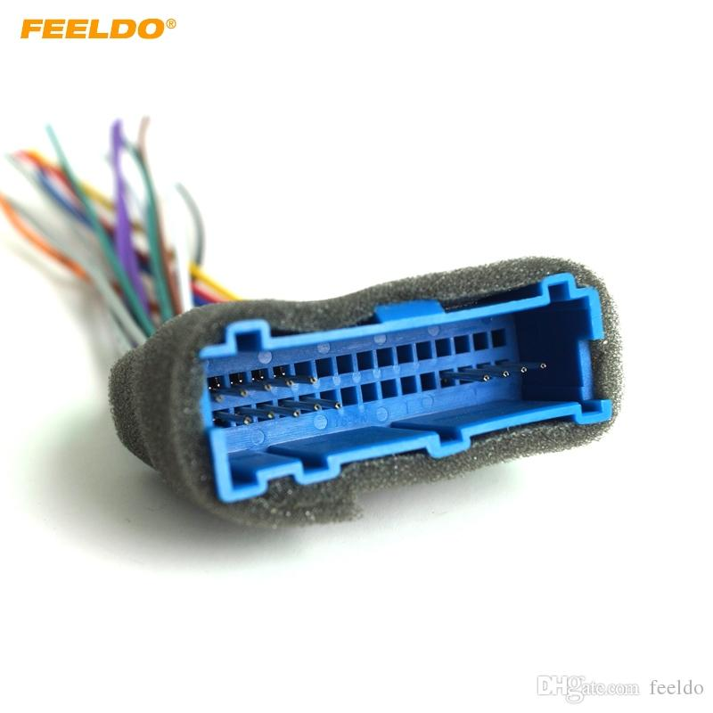 2019 FEELDO Car Radio Audio Stereo Wiring Harness Adapter Plug For
