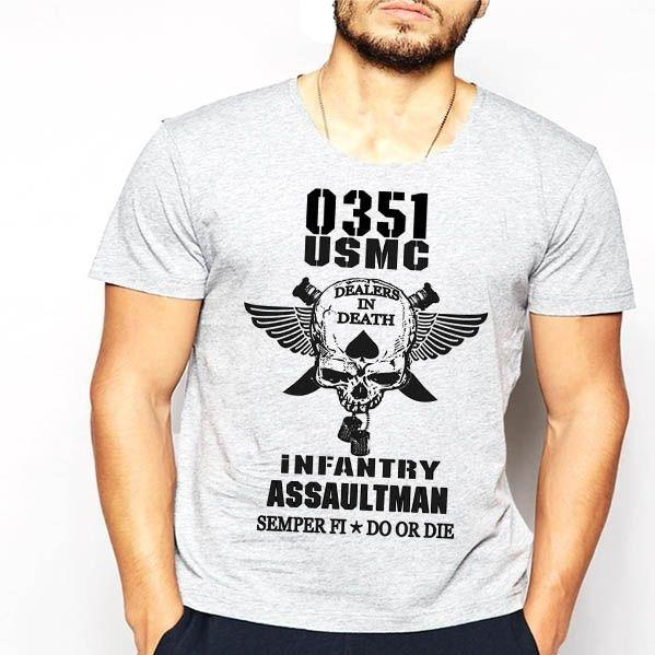 Wholesale Discount Us Marines Infantry Assaultman T Shirt Mos 0351