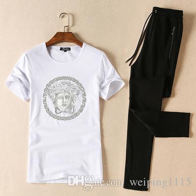 Popular Logo T-shirt Design Men\u0027s O-neck T-Shirts Sport Suit Men