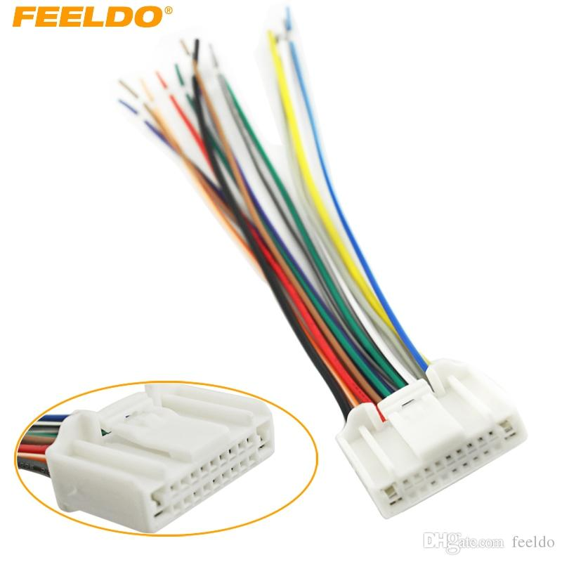 2019 FEELDO CAR STEREO CD/PLAYER WIRING HARNESS ADAPTER PLUG FOR