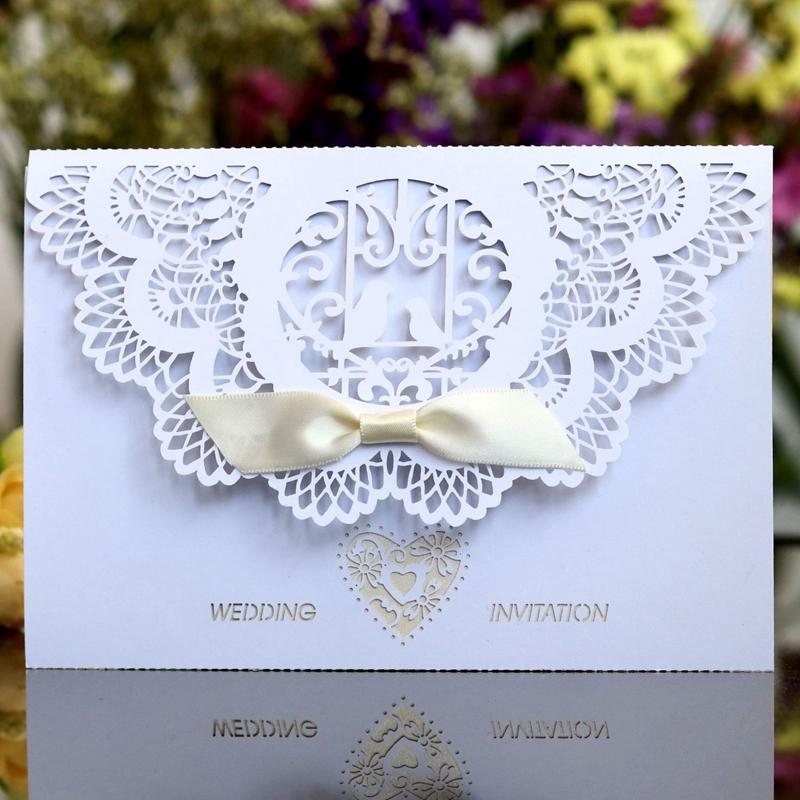 Wedding Postcard Greeting Cards Blank Paper Handmade Laser Cut