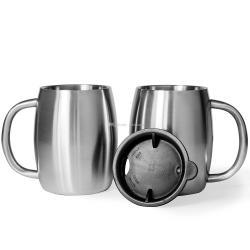 Mesmerizing 2018 Stainless Steel Coffee Mug Handle Walled Insulated Beer Mug Bpa Free Water Cup From 2018 Stainless Steel Coffee Mug Spill Resistant Lid And Spill Resistant Lid