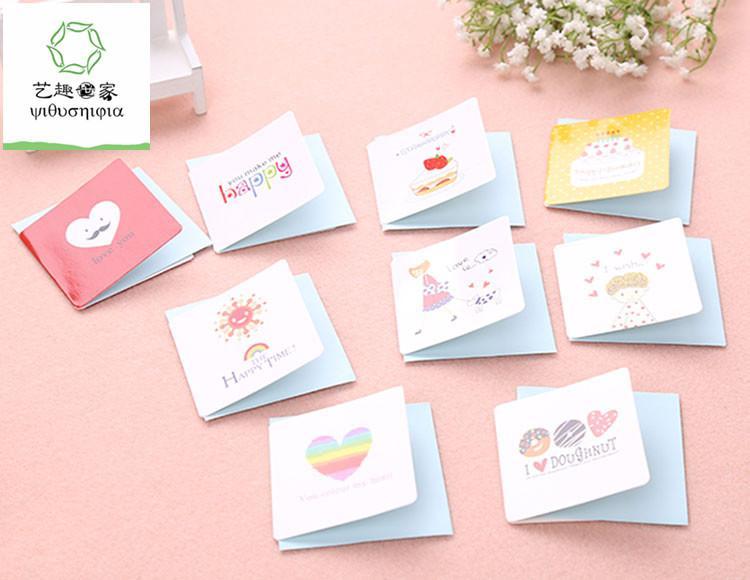 Compre 168 Pçs / Lote Bonitos Pequenos Cartões De Aniversário