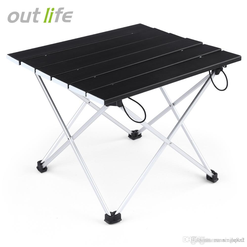 Glomorous Hiking Camoing Picnic Outdoor Entertainment Camping Kitchentable Outlife Ultralight Lightweight Mini Aluminum Alloy Fing Table Outlife Ultralight Lightweight Mini Aluminum Alloy Fing Table M houzz-02 Outdoor Folding Table