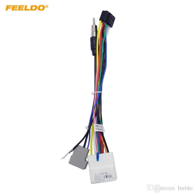 2019 FEELDO 16P Car Head Unit Wire Harness Adapter For Nissan OEM