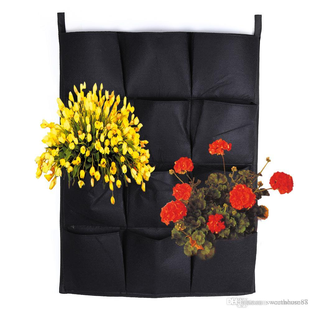 Rousing Wall Hanging Planter Vertical Felt Garden Plant Grow Gardening Flower Pot Planting Bag Pocket Flower Planters Plantgrow Wall Hanging Planter Vertical Felt Garden Plant Grow Wall garden Indoor Wall Garden