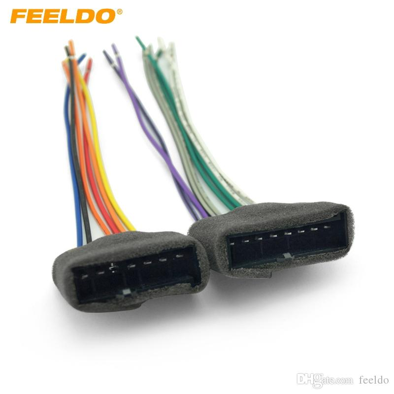 2019 FEELDO Car CD Player Radio Audio Stereo Wiring Harness Adapter