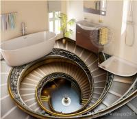 Luxury Floor Wallpaper Spiral Staircase 3d Floor Outdoor ...