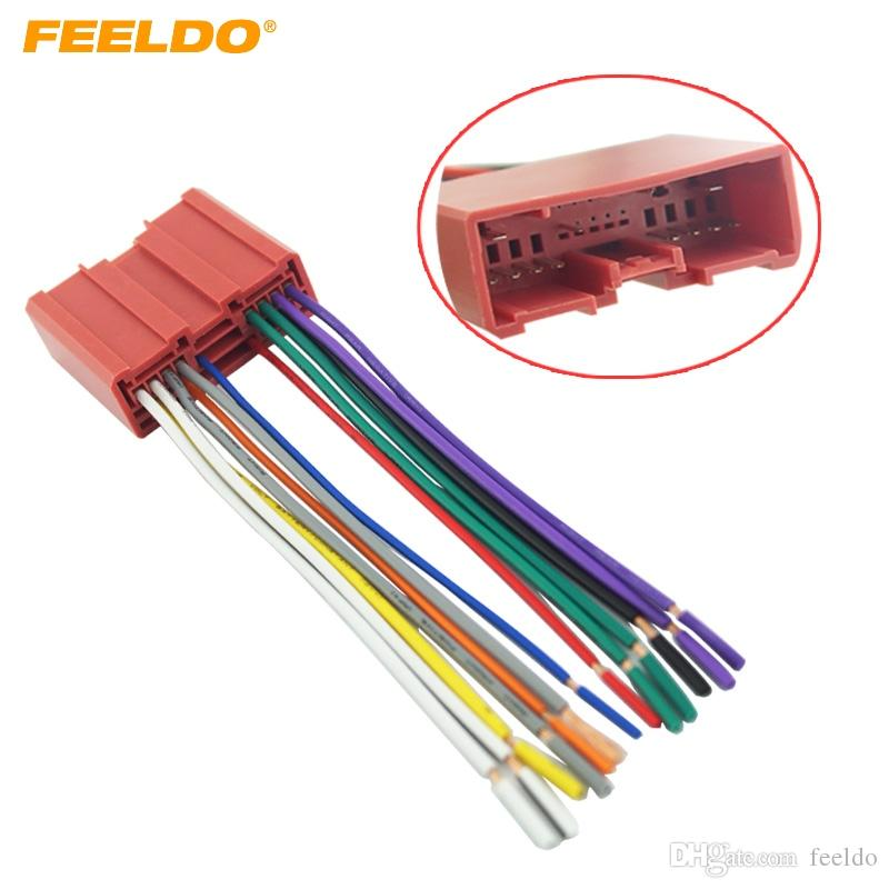 2019 FEELDO Car Radio CD Player Wiring Harness Audio Stereo Wire