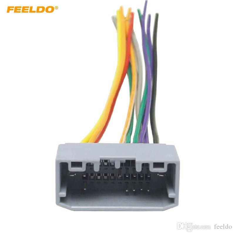 FEELDO Car Stereo Wiring Harness Adapter Female Plug For Jeep