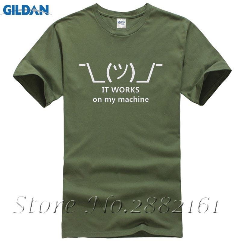 2017 New Design Geek Shirt Print It Works On My Machine Summer Tee