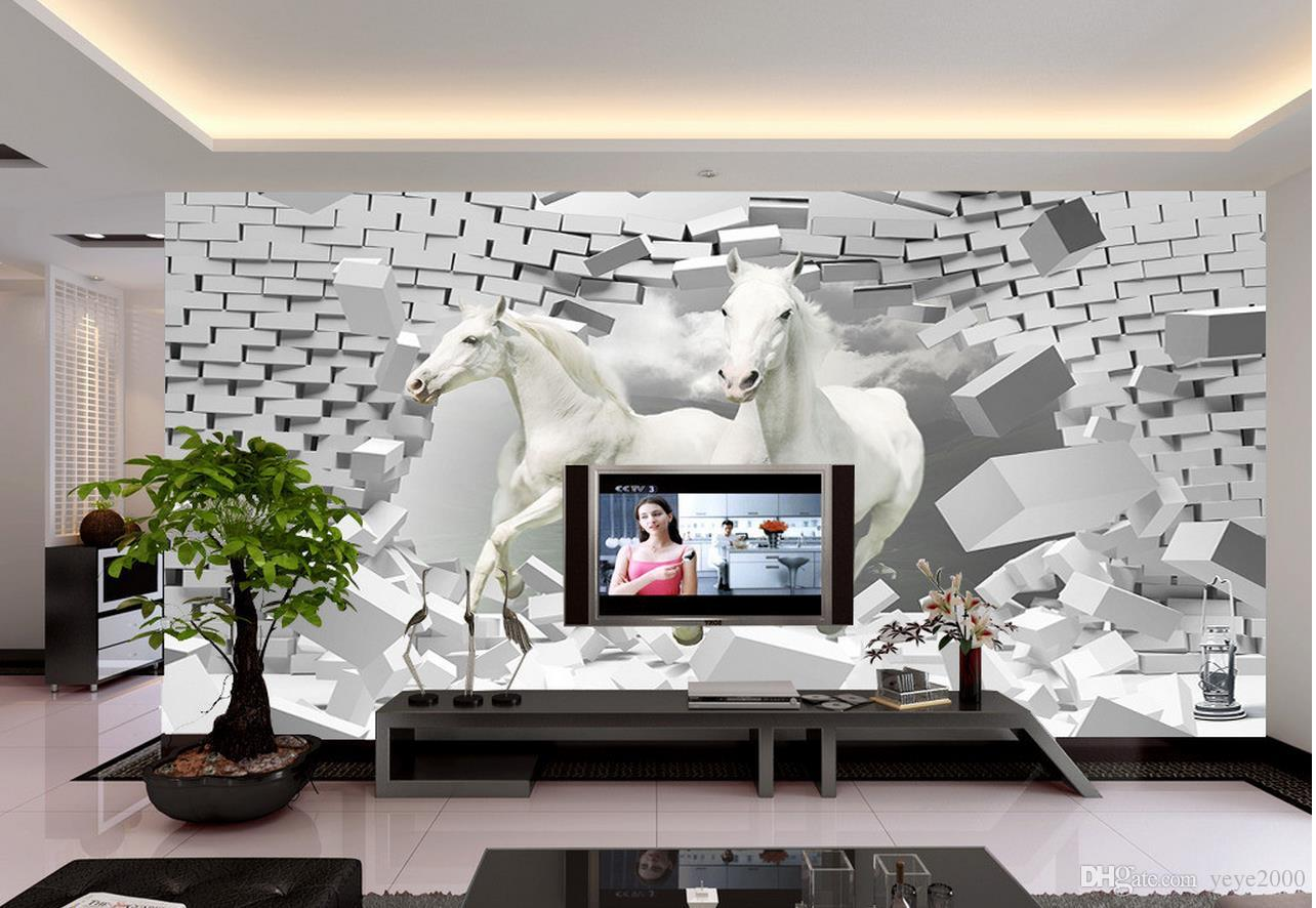 Aai 3d Wallpaper Wallpaper For Children Room Horse 3d Creative Space