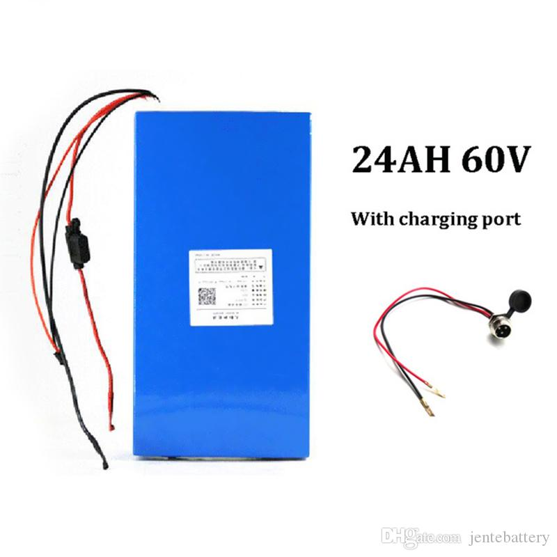 2019 To EU US 60v 24ah Li Ion Electric Scooter Battery For 1000w