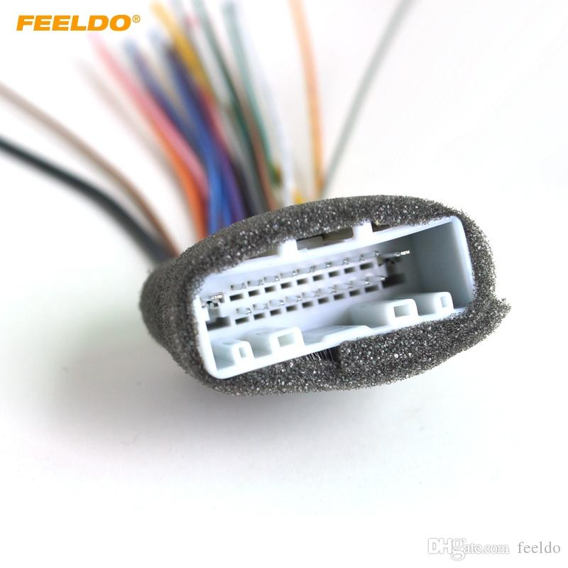 2019 FEELDO Car 20Pin Audio Stereo Wiring Harness Adapter For Nissan