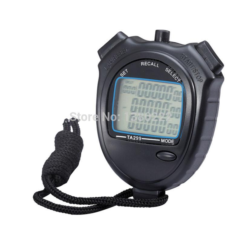 Sports Stopwatch Three Rows Of 99 Channels Seconds Counter Track And