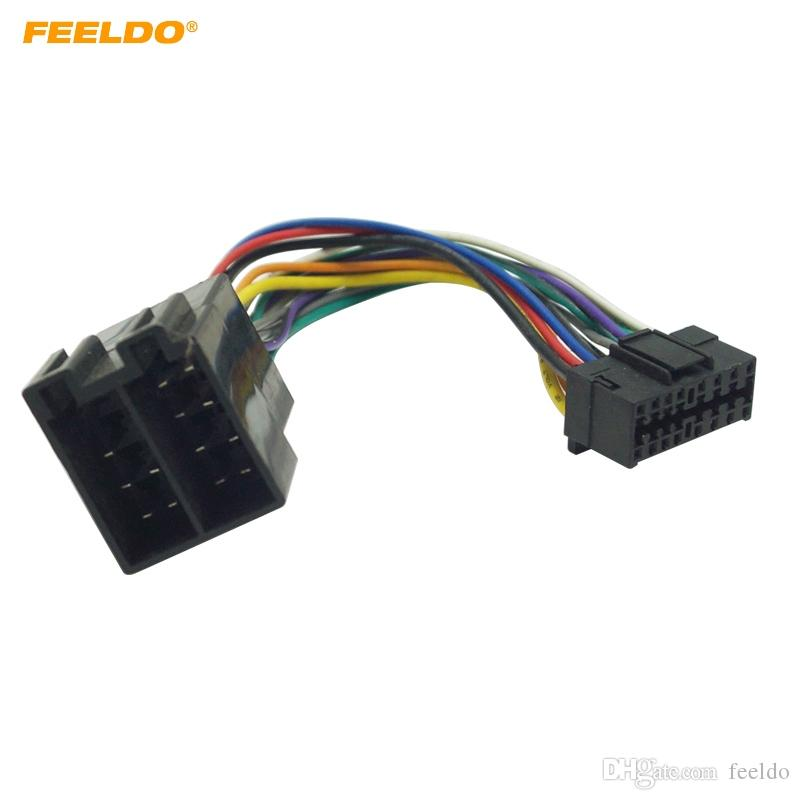 2019 FEELDO Car Stereo Radio Wire Harness Adapter For Sony 16 Pin