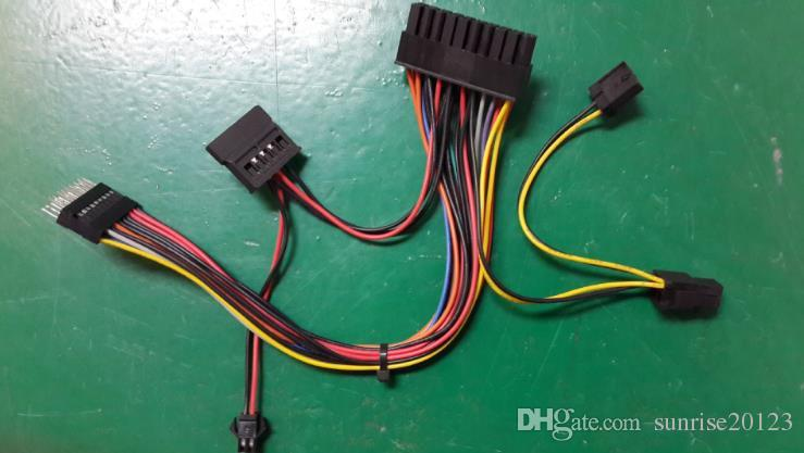 Unique Design Wire Harness, 20P To DuPont 20P To SATA, Turn 4P To