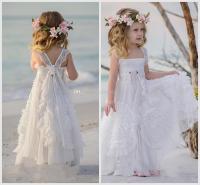 2018 Bohemian Flower Girls Dresses A Line Pleats Appliques ...