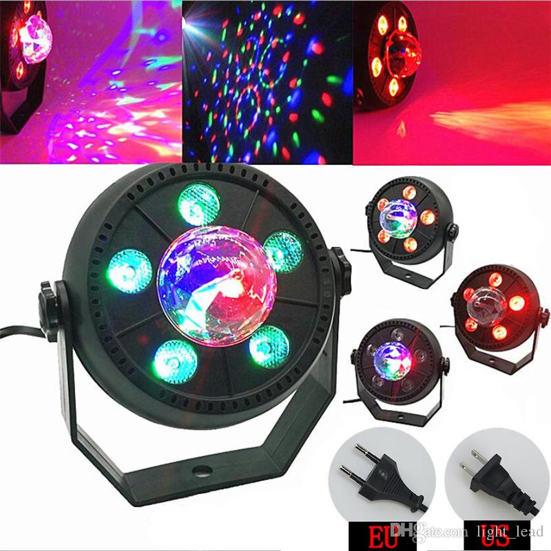 LED Stage Light 11W RGB Music Sound Activated Automatic Rotating