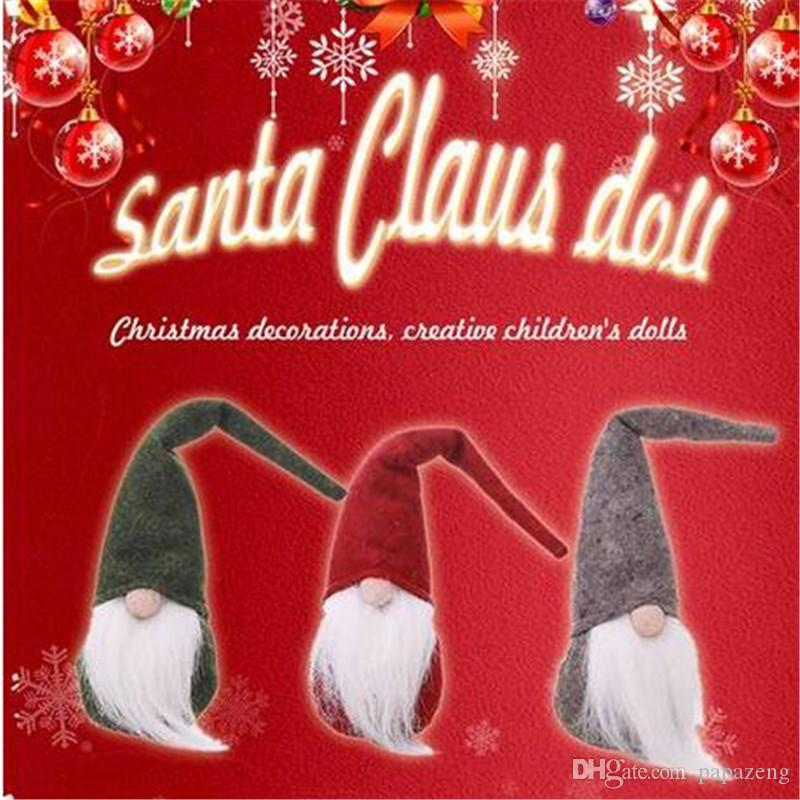 Sales!!!merry Christmas Santa Claus Dolls Christmas Tree Decor