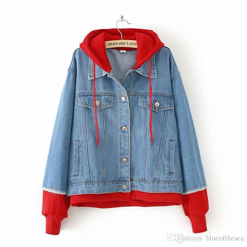 New Innovation Cotton Denim Jacket Large Size Autumn Winter Women\u0027S