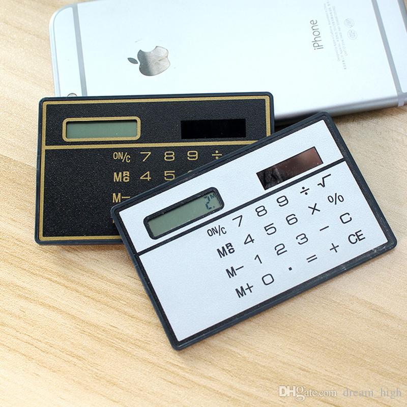 2019 Mini Solar Calculator Protable Slim Credit Card Cheap Pocket