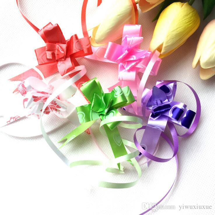 Gift Packing DIY Pull Bow Ribbons Gift Wrapping Wedding Birthday