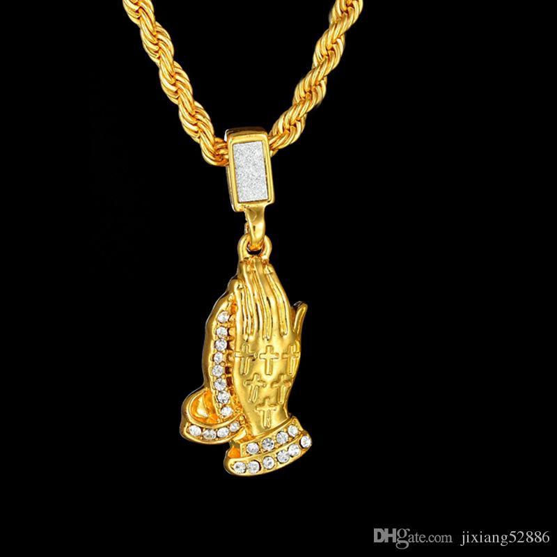 Wholesale Premium Jewelry, Genuine 18K Gold Plated Prayer Hand