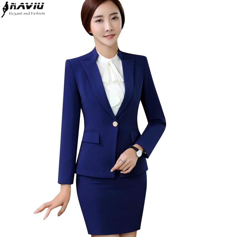 2019 New Fashion Women Skirt Suit Set Business Interview Formal Long