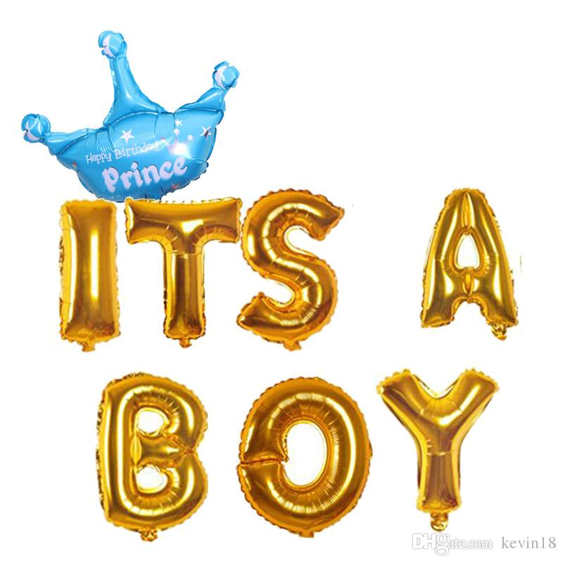 New Baby Born It\u0027S A Boy Or Girl Celebration Letter Crown Foil
