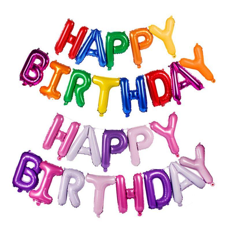Compre 13 Unids 16 Pulgadas Feliz Cumpleaños Letra Del Alfabeto