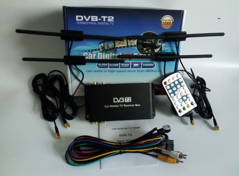 2019 Car TV Tuner Dab Car Radio Mobile Digital Tv Receiver DVB T2