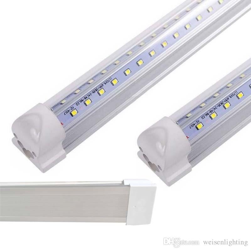 2019 T8 Integrated LED Tube Light Fixture, 4ft Ceiling Light 24W LED