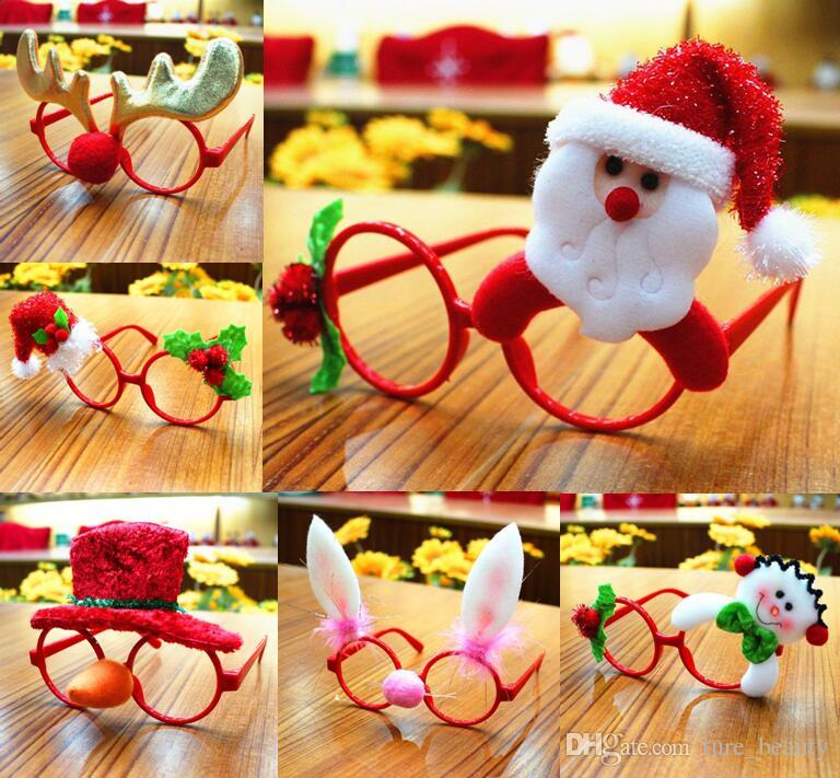 Funny Christmas Ornaments Glasses Frames Evening Party Toy Kids Xmas