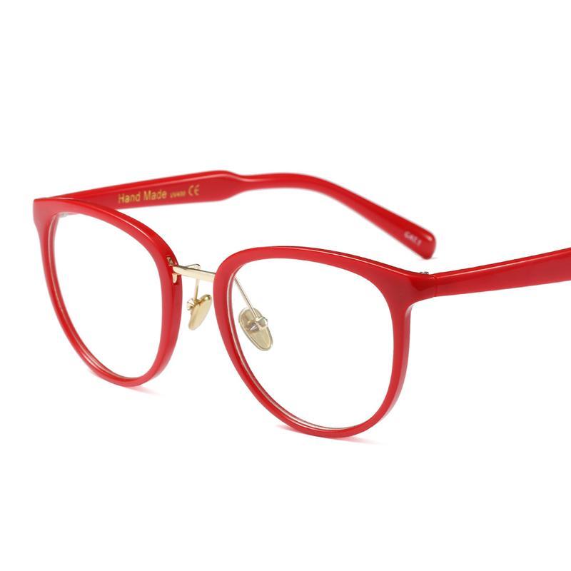 2019 Myopia Eyeglasses Prescription Red Eyewear Temple Eye Glasses