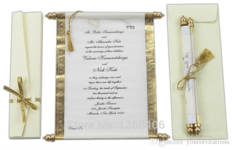 2016 Scroll Wedding Invitations Card Wholesale Party Wedding Gold