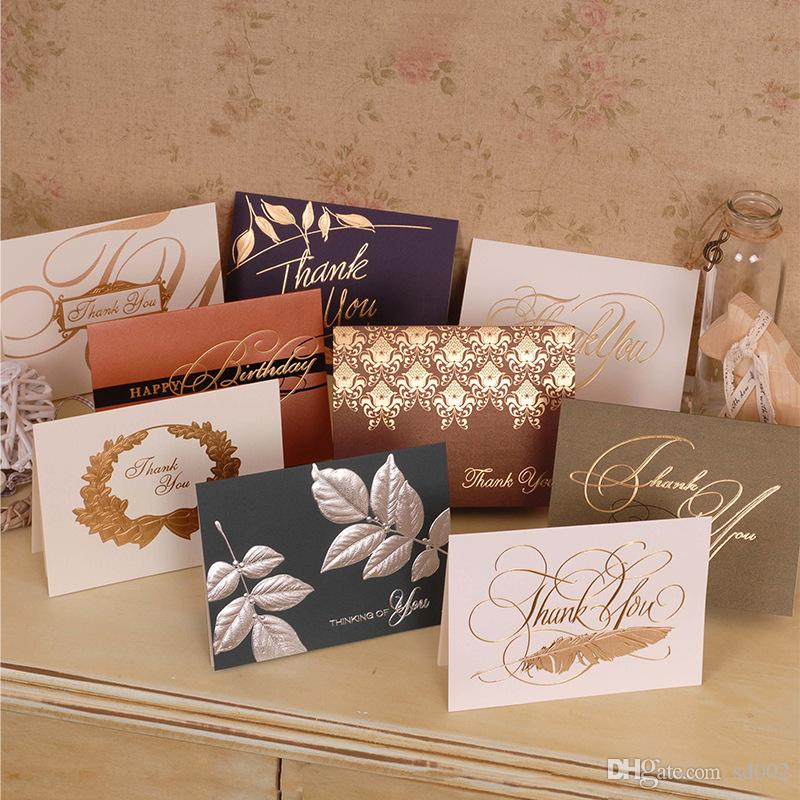 Color Bronzing Thank You Greeting Cards Business Top Grade Partners