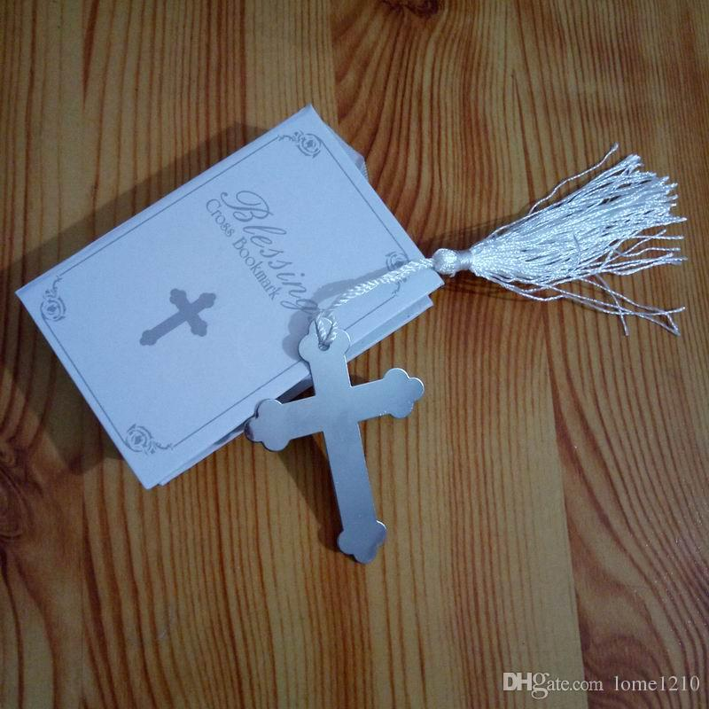 2019 New Arrival Silver Cross Bookmark In Book Religious Party