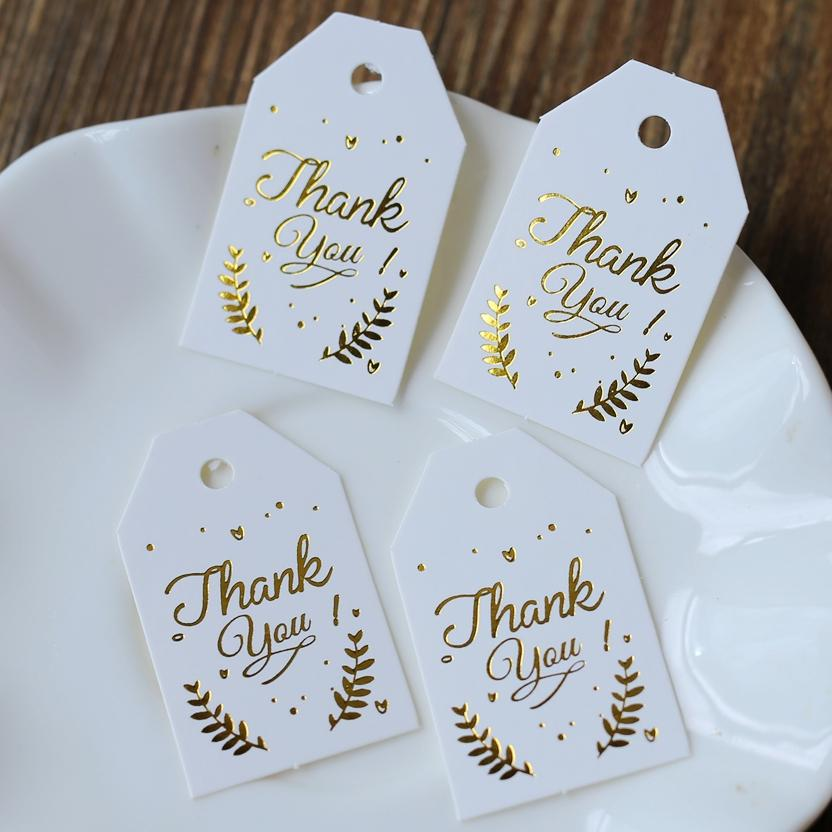 2019 Golden Thank You Tag, Gift Tags, Wedding Thank You Tags,Thank