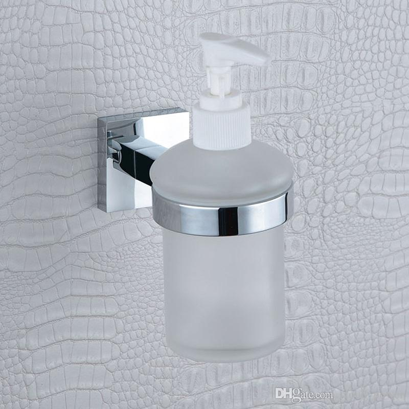 2018 Glass Liquid Soap Dispenser Pump Wall Mount Hand Wash