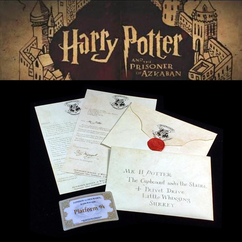 Hot Harry Potters Hogwarts Acceptance Letter Package Five Pieces