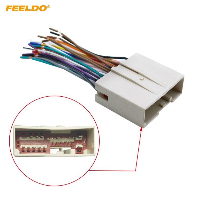 2019 FEELDO Car Radio CD Player Wiring Harness Audio Stereo Wire