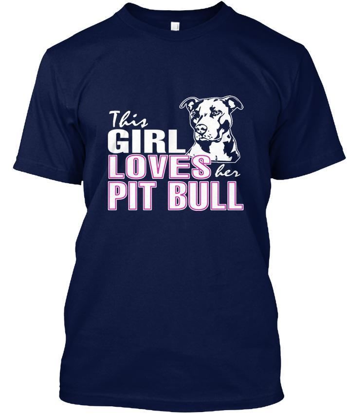 This Girl Loves Pit Bull Pitbull Dog Popular Tagless Tee T Shirt