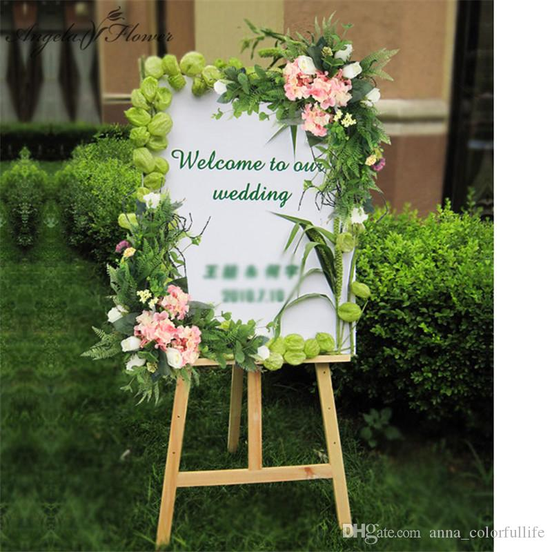 2019 DIYwedding Props Wedding Welcome Card Floral Hotel Water Sign