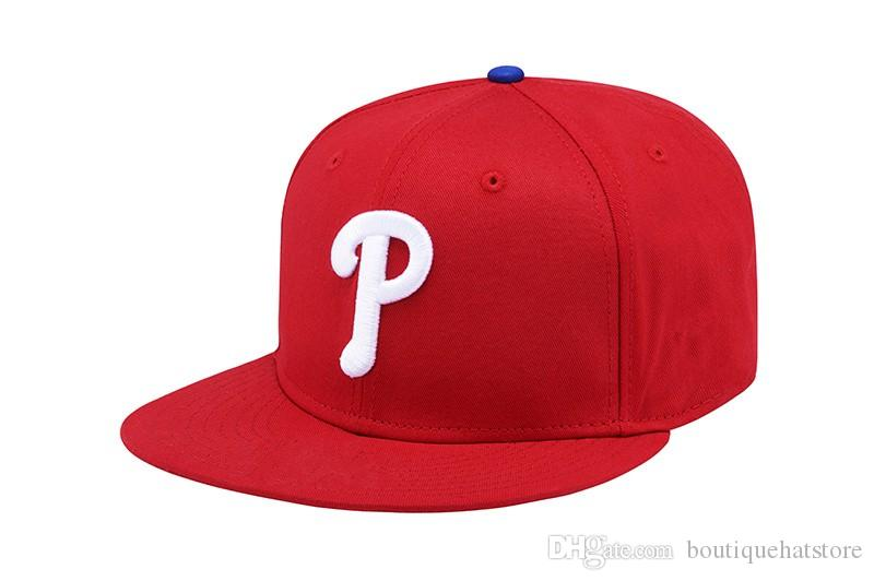 Classic Basic Red Color Phillies Snapback Hats With White P Letter - Basic P&l
