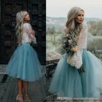2018 Two Piece Prom Dresses Knee Length Short Cheap ...