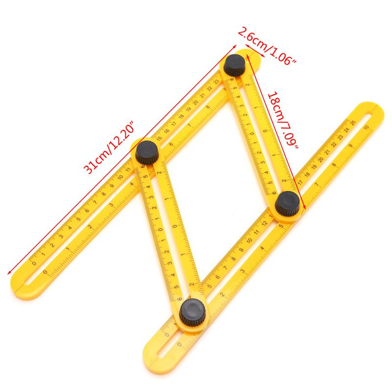 2019 Measuring Instrument Angle Izer Template Tool Four Sided Ruler